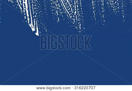 Grunge Texture. Distress Indigo Rough Trace. Enchanting Background. Noise Dirty Grunge Texture. Symm