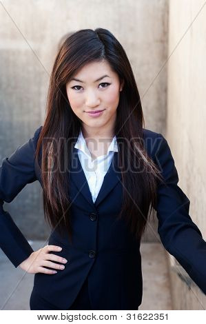 Young Attractive Asian Businesswoman