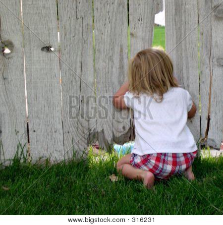 Girl Peeking
