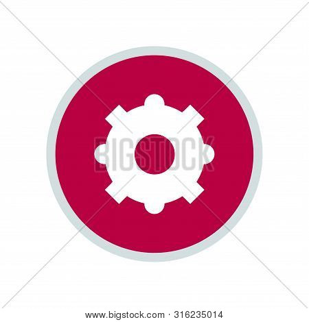 Gear Icon, Gear Icon Circle, Gear Icon Round. Gear Icon Trendy And Modern Gear Symbol For Logo, Web,