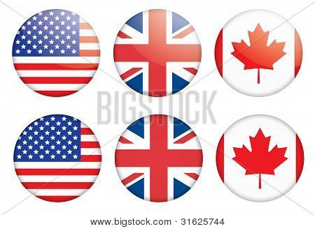 Badges With Flags
