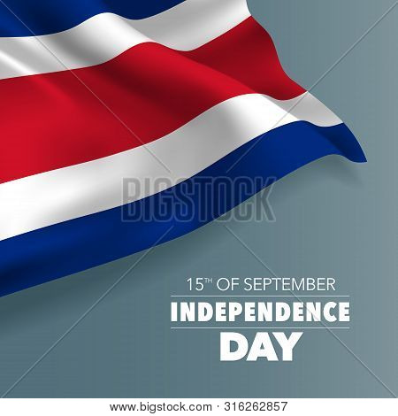 Costa Rica Happy Independence Day Greeting Card, Banner, Vector Illustration. Costa Rican National D