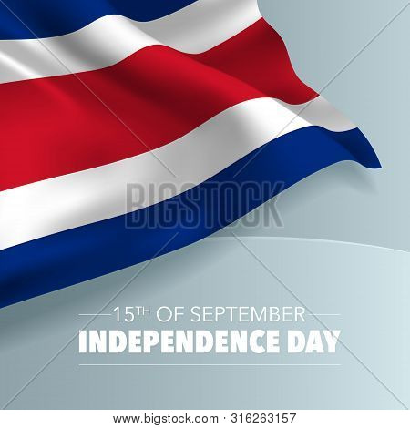 Costa Rica Happy Independence Day Greeting Card, Banner, Vector Illustration. Costa Rican Holiday 15