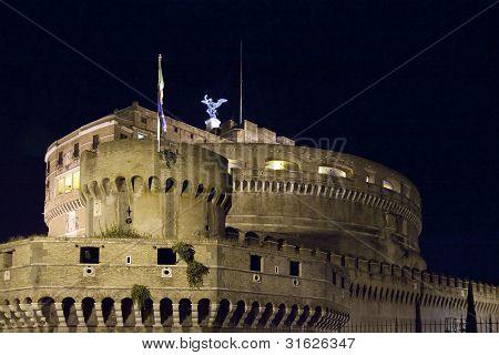 Castel Sant' Angelo At Night