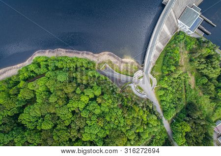 Vir Is A Dam With A Dam With A Height Of 76.5 M On The River Svratka Above The Village Vir. It Was B