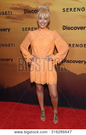 LOS ANGELES - JUL 23:  Nicky Whelan arrives for the 'Serengeti' Special Screening on July 23, 2019 in Beverly Hills, CA