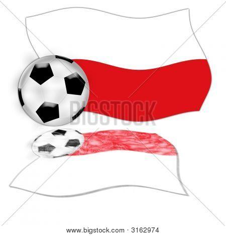 Football Flag Poland