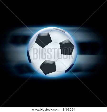 Footballglossyballblue