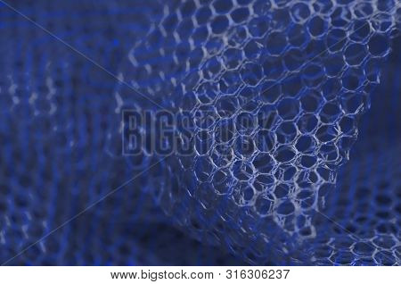 Abstraction. Blue Grid. Pattern, Composition. Background Ultramarine .