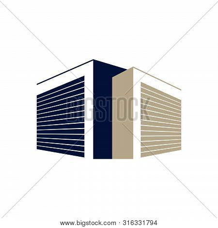 Secured Public Self Storage Logo Design Vector Illustration