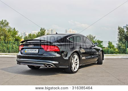 Kyiv, Ua - September 10. Audi S7 Quattro On The Background Of The City