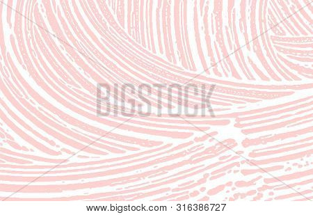 Grunge Texture. Distress Pink Rough Trace. Grand Background. Noise Dirty Grunge Texture. Uncommon Ar