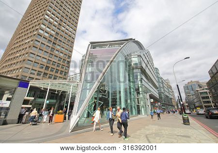 London England - May 31, 2019: Unidentified People Visit Cardinal Place In Downtown London England