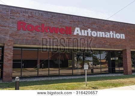Indianapolis - Circa August 2019: Rockwell Automation Location. Rockwell Automation Provides Allen-b