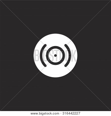 Album Icon. Album Icon Vector Flat Illustration For Graphic And Web Design Isolated On Black Backgro