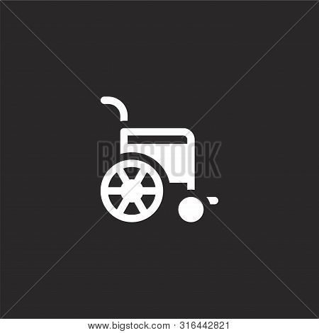 Wheelchair Icon. Wheelchair Icon Vector Flat Illustration For Graphic And Web Design Isolated On Bla