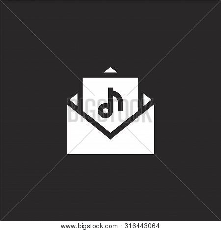 Audio Icon. Audio Icon Vector Flat Illustration For Graphic And Web Design Isolated On Black Backgro