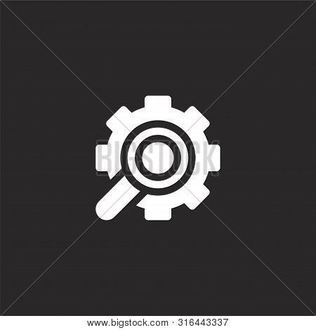 Analysis Icon. Analysis Icon Vector Flat Illustration For Graphic And Web Design Isolated On Black B