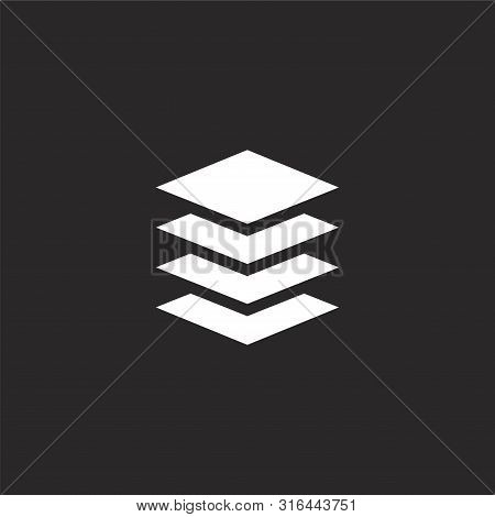 Layers Icon. Layers Icon Vector Flat Illustration For Graphic And Web Design Isolated On Black Backg