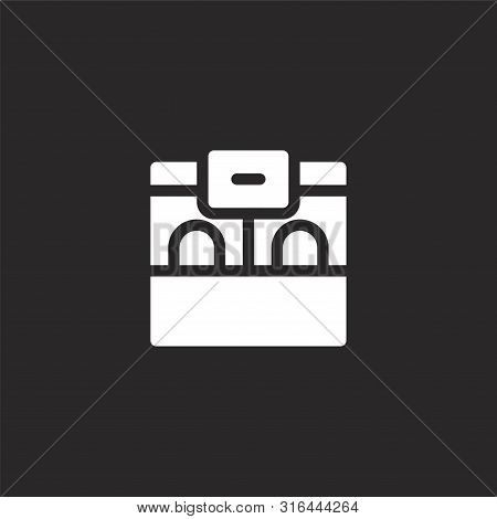 Ticket Office Icon. Ticket Office Icon Vector Flat Illustration For Graphic And Web Design Isolated