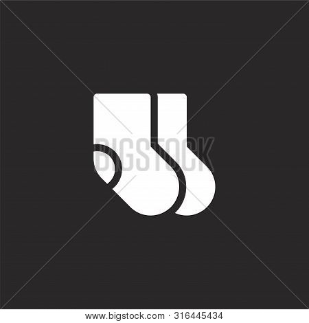 Socks Icon. Socks Icon Vector Flat Illustration For Graphic And Web Design Isolated On Black Backgro