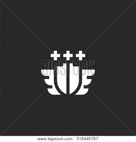 Aviation Icon. Aviation Icon Vector Flat Illustration For Graphic And Web Design Isolated On Black B