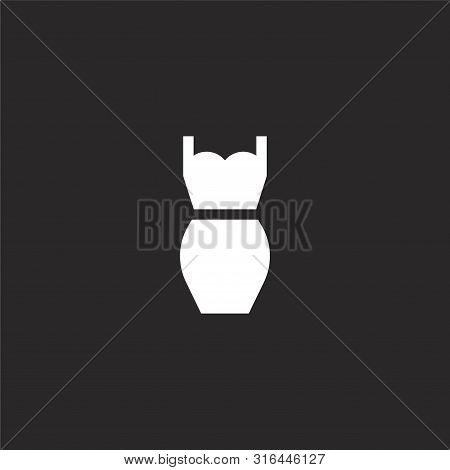 Dress Icon. Dress Icon Vector Flat Illustration For Graphic And Web Design Isolated On Black Backgro
