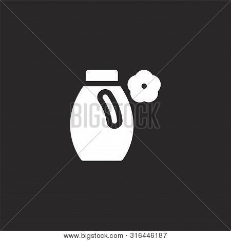 Softener Icon. Softener Icon Vector Flat Illustration For Graphic And Web Design Isolated On Black B