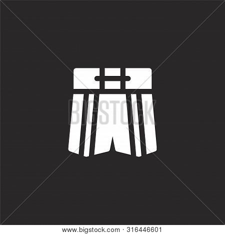 Boxing Shorts Icon. Boxing Shorts Icon Vector Flat Illustration For Graphic And Web Design Isolated
