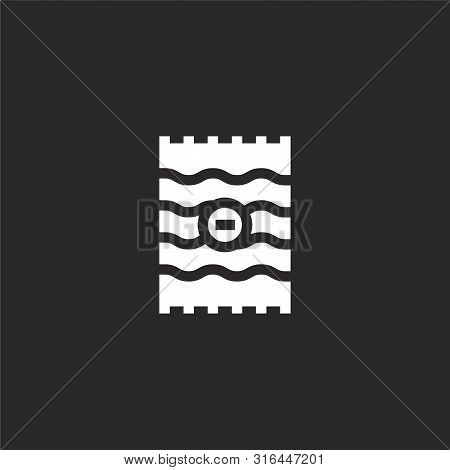 Beach Towel Icon. Beach Towel Icon Vector Flat Illustration For Graphic And Web Design Isolated On B
