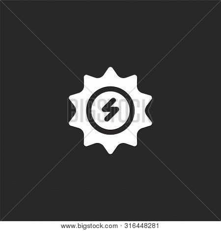 Solar Energy Icon. Solar Energy Icon Vector Flat Illustration For Graphic And Web Design Isolated On