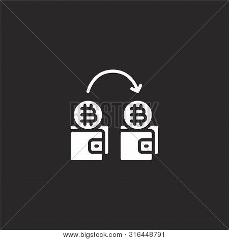 Trading Icon. Trading Icon Vector Flat Illustration For Graphic And Web Design Isolated On Black Bac