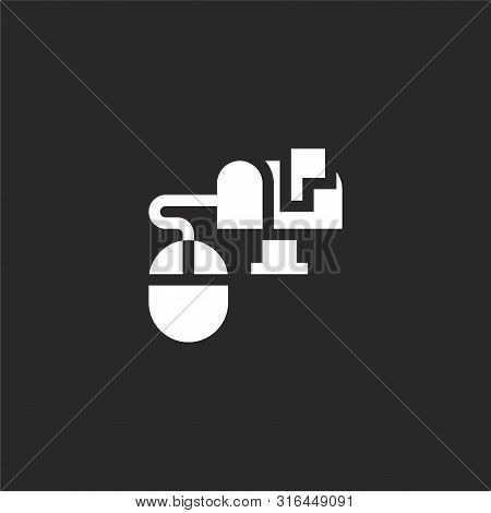 Mailbox Icon. Mailbox Icon Vector Flat Illustration For Graphic And Web Design Isolated On Black Bac