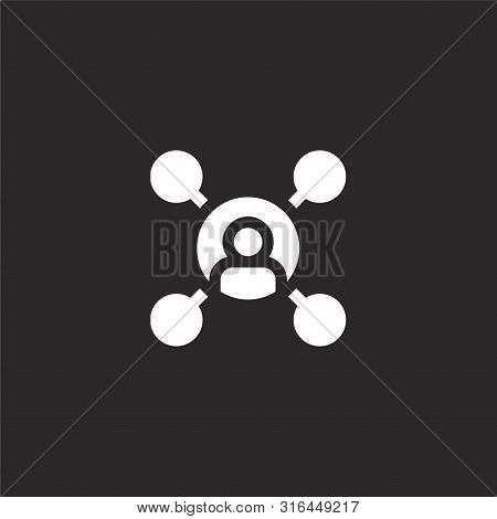 Connection Icon. Connection Icon Vector Flat Illustration For Graphic And Web Design Isolated On Bla