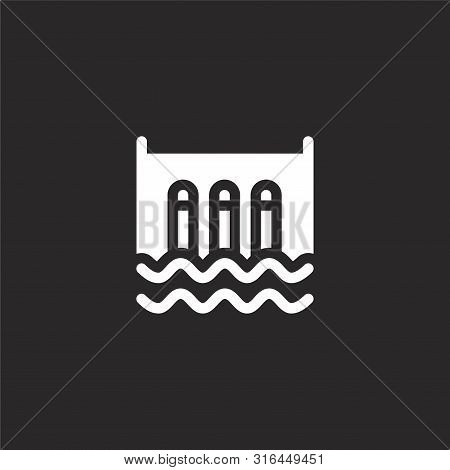 Hydro Icon. Hydro Icon Vector Flat Illustration For Graphic And Web Design Isolated On Black Backgro