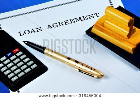Loan Agreement Between The Lender And The Borrower. The Bank Or Credit Institution Provides Funds To