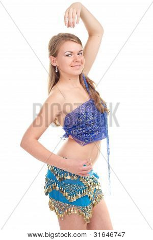 Arabic dance performed by a beautiful blonde