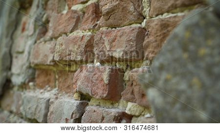 Old Brickwork. Brick Laying Of The 18th Century. Buildings Made Of 18th-century Brick. Old Brickwork