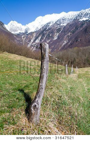Fence in the mountains