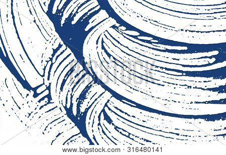 Grunge Texture. Distress Indigo Rough Trace. Delightful Background. Noise Dirty Grunge Texture. Maje