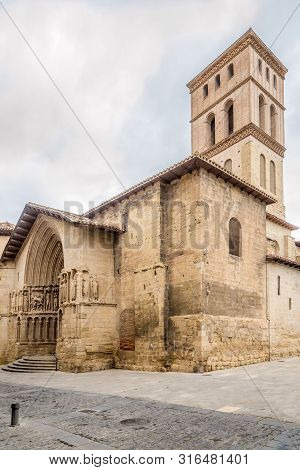 View At The San Bartolome Church In Logrono, Spain