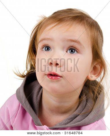 Portrait Of Surprised Little Girl