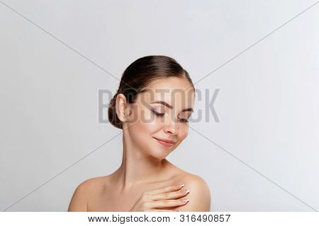 Woman With Healthy Hair And Skin - Coscmetic And Beauty Concept