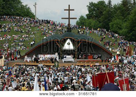 Hungarian pilgrims celebrating the Pentecost, Transylvania