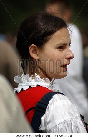 Hungarian pilgrim celebrating the Pentecost and the catholic pilgrimage tradition