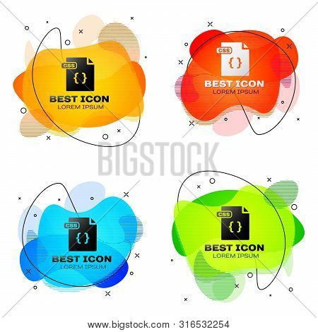 Black Css File Document. Download Css Button Icon Isolated On White Background. Css File Symbol. Set