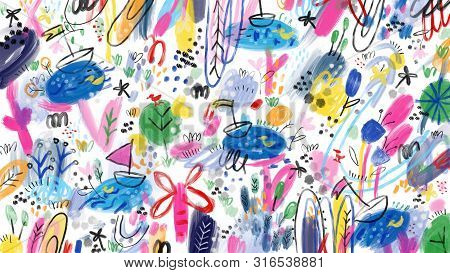 Artistic Abstract Hand Drawn Full Screen Bacground