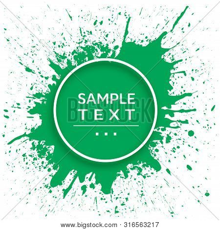 Abstract Ink Splash Design Template. Abstract Template With Splatter. Vector And Illustration.