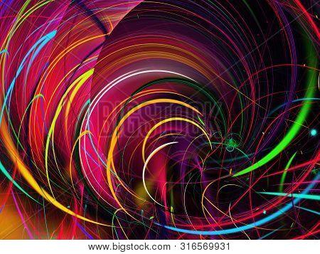 Red Abstract Fractal Background 3D Rendering Illustration