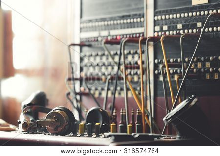 World War 2 Switchboard Communications Equipment Used By The Allies In Aviation